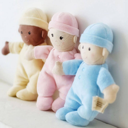 Apple Park My First Baby Doll- Pink, cream and blue