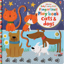 Usborne Baby's Very First Fingertrail Play book Cats & Dogs