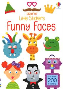 Usborne Little Stickers Funny Faces