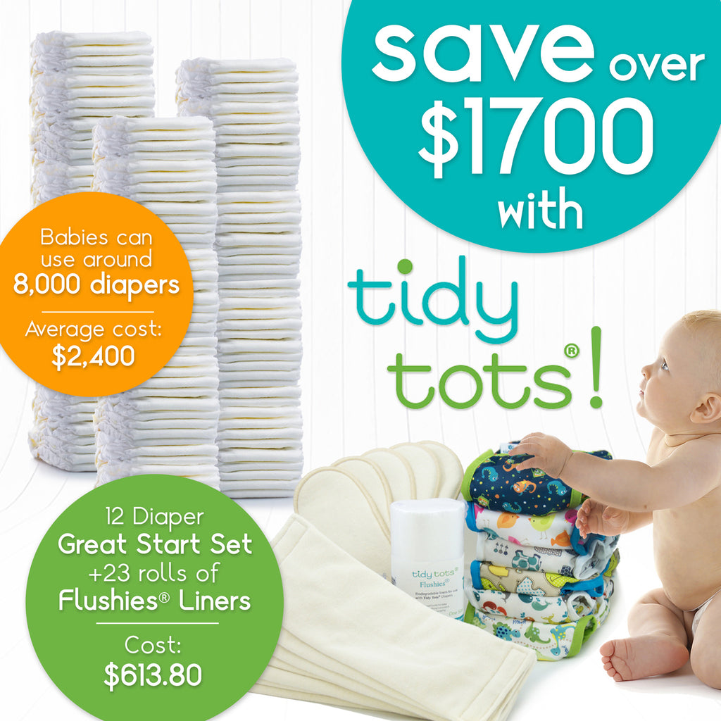 Tidy Tots No Fold Diaper 2 Pack