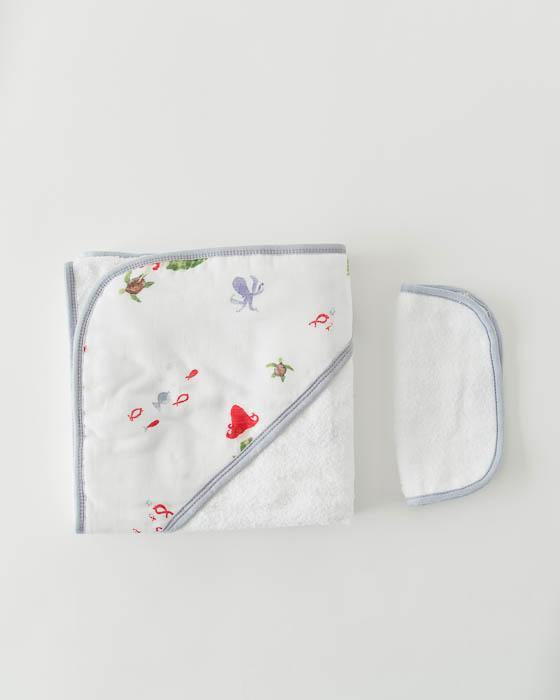 Little Unicorn Muslin Hooded Towel Set