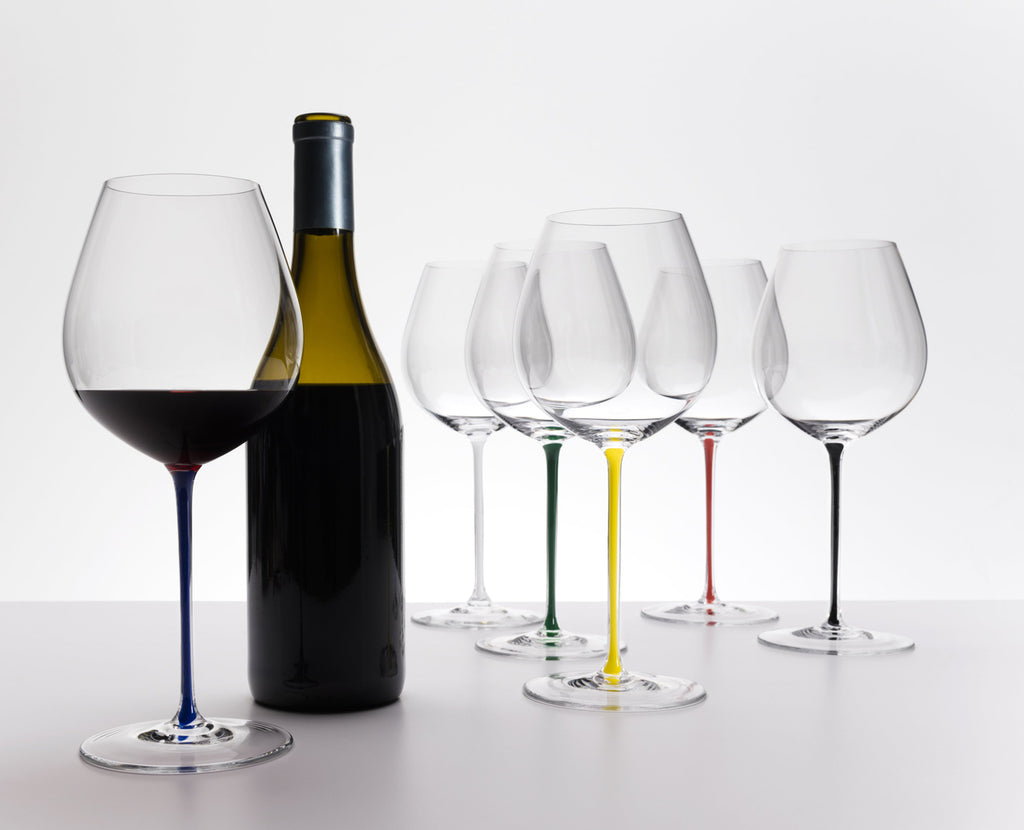 Riedel Fatto A Mano Old World Pinot Noir Blue, riedel, riedel glas, vinglas, riedel vinglas