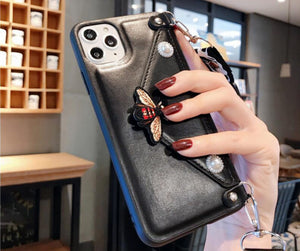 Tide brand bee change card package lanyard iPhone11pro max mobile phone case Apple 8 / 7plus anti-fall XR luxury designer phone cases