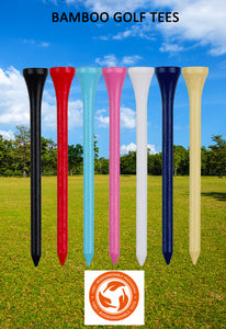 KOFULL 83MM 50PC In Bulk High Quality Hard Bamboo Golf Tees Holder In Multiple Colors Golf Accessories