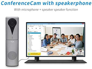 YSX K8 All in One Video Conference Camera for Small Meeting Room, HD 1080P - 105 Degree Wide Angle - Prime Lens,Built in Microphone and Speaker