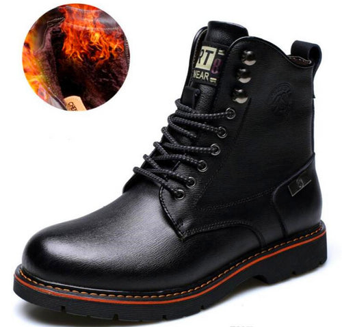 2018 Original Leather Boots Men Leisure Cowhide Martin Boots Business Low Ankle Boots Solid Winter Not Smelly Feet Work Shoes