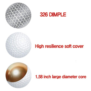 Snugen (TM Soft Feel Distance Golf Ball with Matte Finished Color, Long Distance Tour Ball,12 Ball Pack