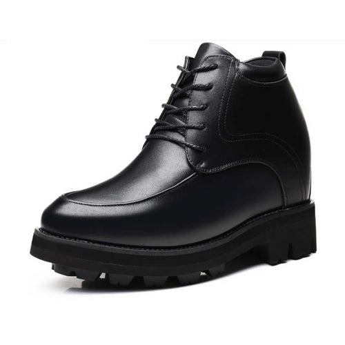 Super High Elevator Shoes Black Lace-up Young Male Shoe 15 CM Height Increase Hombre Casual Shoes Oxfords Men Thick Sole