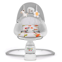Cargar imagen en el visor de la galería, Baby swing  with music and toys Electric swing bouncer, side to side gentle sway