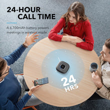 Cargar imagen en el visor de la galería, Anker PowerConf Bluetooth Speakerphone conference speaker with 6 Microphones, Enhanced Voice Pickup, 24H Call Time