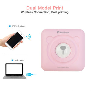 Peripage Mini pocket photo printer A6 bluetooth Mobile Notes Printer 58mm Peripage thermal printer for Android IOS phone