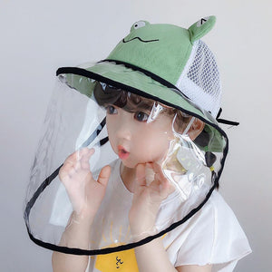 Kid Anti-droplet Visor Shield Bucket Hat Wide Brim Face Protective Cover Sun Cap environment-friendly perfect gifts for children