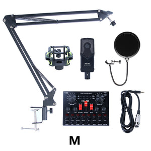 Multifunctional Live Streaming Equipment Condenser Microphone Sound Recording Live Webcast Device for YouTube