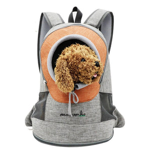 Fashion Travel Backpack for Carrying Dog Double Shoulders Bag Adjustment Small Dog Carrier Outdoor Breathable Pet Carrier Bag