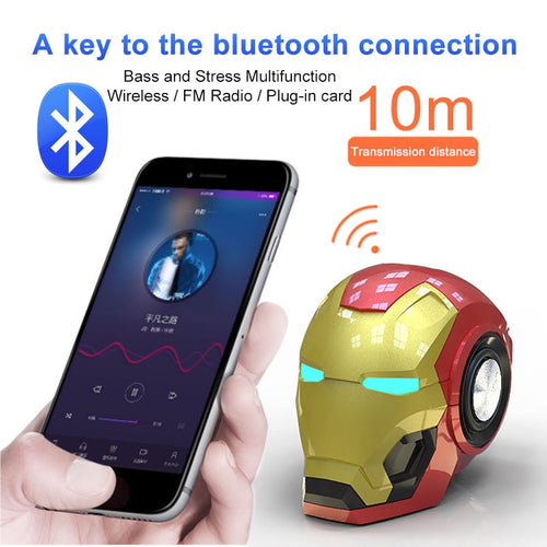 RS Bluetooth Speakers Iron Marvel Man portable Wireless mini Hifi 360 stereo Subwoofer woofer sound bar boom box TF USB mp3