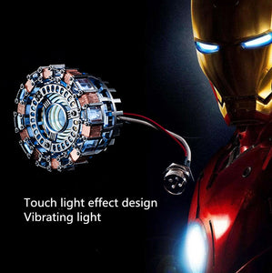 New Metal Super hero MK1 MK2 Model Toys Chest Lamp 1:1  Arc Reactor Action Figure Remote Light Arc AG800