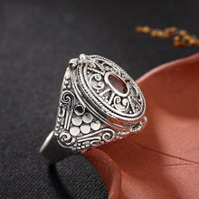 Cargar imagen en el visor de la galería, PANSYSEN New 100% Authentic 925 Sterling Silver Vintage Lock Flip Cover Finger Rings For Women Men Anniversary Jewelry Ring Gift