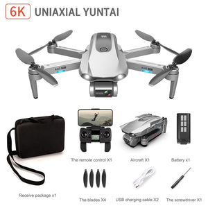 K60 drone 6k HD dual camera Uniaxial gimbal drone 4k professional 5g wifi Aerial Photography FPV foldable RC Quadcopter flight