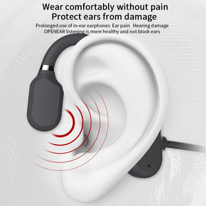 2020 New Bone Conduction Headphones Bluetooth 5.0 Wireless Not In-Ear Headset Sweatproof Waterproof Sport Earphones 18g Earbuds
