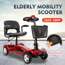 Cargar imagen en el visor de la galería, 2020 new intelligent elderly scooter four-wheeled battery car for the disabled elderly electric car