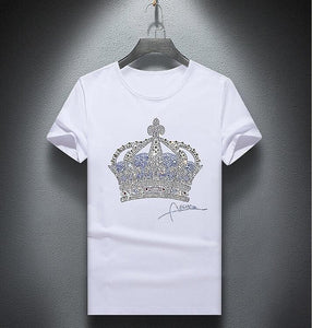 Men  diamond design Tshirt fashion t-shirts men funny t shirts tops and tees