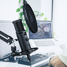 Cargar imagen en el visor de la galería, MAONO PM422 USB Microphone With Touch Mute Button Microfone 192Khz 24bit Condenser Podcast Studio Mic For PC FOR YUTUBE FACEBOOK