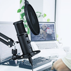 MAONO PM422 USB Microphone With Touch Mute Button Microfone 192Khz 24bit Condenser Podcast Studio Mic For PC FOR YUTUBE FACEBOOK