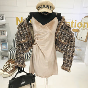 High-quality Temperament Ladies style tweed women short Jacket Women 2021 autumn  elegant jacket Female Fashion Jacket Woman Top