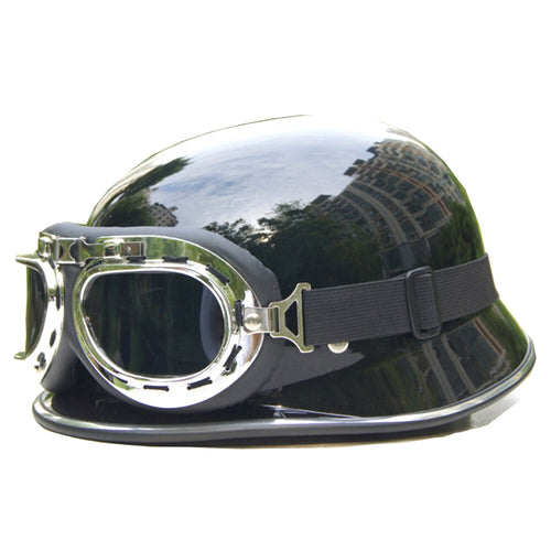 Motorcycle half Helmet German Capacete Moto helmets Motorbike Dirt Bike Mens Helmets motorcycle Glasses free size