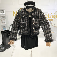 Cargar imagen en el visor de la galería, High-quality Temperament Ladies style tweed women short Jacket Women 2021 autumn  elegant jacket Female Fashion Jacket Woman Top
