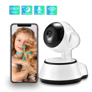 WiFi Baby Monitor 1080P Wireless Baby Sleeping  Monitor Two Way Audio Auto Tracking Night Vision Old Man Camera Babysitter Phone