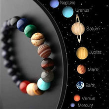Cargar imagen en el visor de la galería, Solar System Eight Planet Themed Natural Stone Beaded Bracelet Planet Glass Men And Women Neutral Bracelet Pendientes Mujer