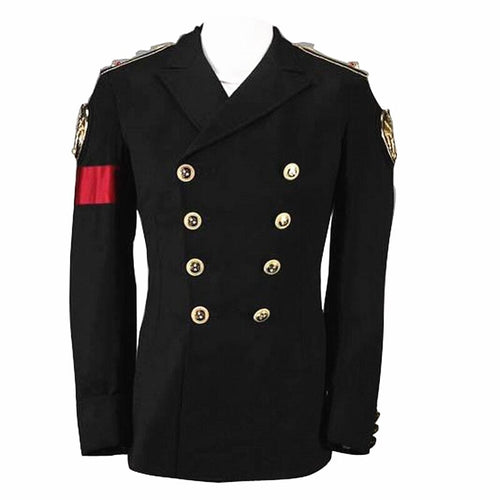 MJ Michael Jackson Black Military Style Jacket