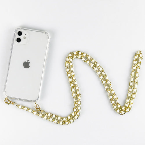 Crossbody Strap Phone Case With Lanyard Necklace Pearl Chain For Iphone 12 11 Pro XS X XR SE2 6 7 8 Plus Cover