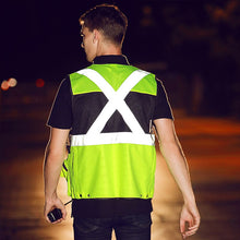 Cargar imagen en el visor de la galería, Reflective vest multi-pocket traffic patrol cars safety reflective vest tactical outdoor night work high visable clothing