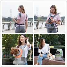 Cargar imagen en el visor de la galería, Fashion Travel Backpack for Carrying Dog Double Shoulders Bag Adjustment Small Dog Carrier Outdoor Breathable Pet Carrier Bag