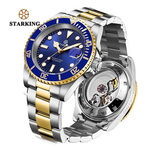 Starking Men Watch Brand Automatic Mechanical Sports 100M Waterproof Sport Male Sapphire WristWatch Relogio Masculino Rolexable