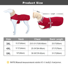 Cargar imagen en el visor de la galería, Super Warm Dog Clothes Coat Waterproof Large Dogs Vest Jacket Thick Winter Pet Clothing Vest With Warm Collar Wolfhound Shepherd