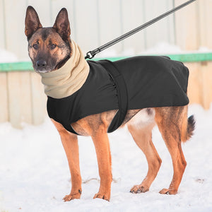 Super Warm Dog Clothes Coat Waterproof Large Dogs Vest Jacket Thick Winter Pet Clothing Vest With Warm Collar Wolfhound Shepherd