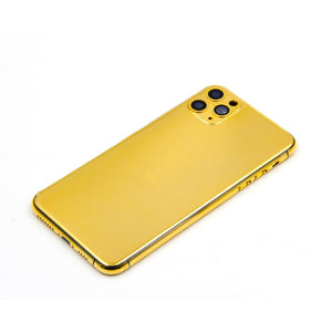 24KT Gold Plated Housing for iPhone 11/11 Pro/11 Pro Max Replacement Cover for Apple iPhone Back Battery Cover Customized Design