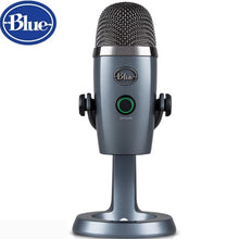 Cargar imagen en el visor de la galería, Blue YetiNano snow monster condenser digital USB microphone for podcasting game streaming Skype call YouTube music recording