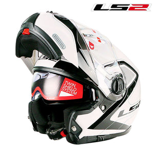 LS2 FF325 Flip Up Motorcycle Helmet Modular Motorbike ls2 Helmet With Double Sun Shield Racing capacete ls2 casco moto Helmet