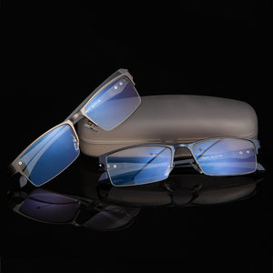 titanium Computer Glasses Anti Blue Light Blocking Filter Reduces Digital Eye Strain Clear Regular Gaming Goggles Eyewear TR90