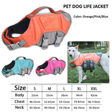 Cargar imagen en el visor de la galería, JANPET DOG LIFE JACKET PET LIFE VEST SAVER FOR SWIMMING BOATING Training DOG FLOATATION LIFE PRESERVER COAT SAFETY