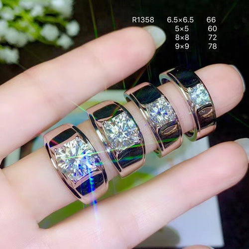 925 Silver moissanite Men's Ring, classic style, the world's popular gemstones, beautiful fire. The price is reasonable. whol