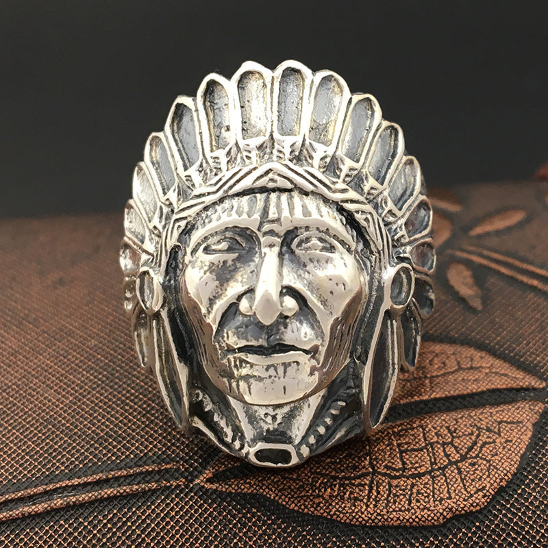ks-carpediem - S925 Sterling Silver Jewelry Handmade  Men's Indian Emirates Ring