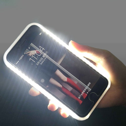 Light Glow Phone Case For iPhone 12 X XR Case Photo Fill Light Artifact For iPhone 11 Pro max 7 8 plus Selfie Mobile Shell