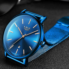 Cargar imagen en el visor de la galería, LIGE Womens Watches Top Brand Luxury Waterproof Watch Fashion Ladies Stainless Steel Ultra-Thin Casual Wristwatch Quartz Clock