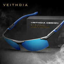 Cargar imagen en el visor de la galería, VEITHDIA Aluminum Magnesium Men's Sunglasses Polarized Blue Coating Mirror Sun Glasses oculos Male Eyewear Accessories Men 6589