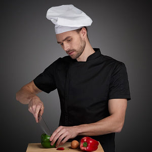 Summer chef costume cook jacket male chef's white shirt Restaurant Uniform Barber Shop Workwear Overalls